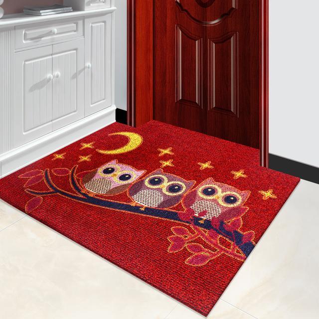 在门口添置一块门厅地垫,既耐脏又上档次,特别是第4款