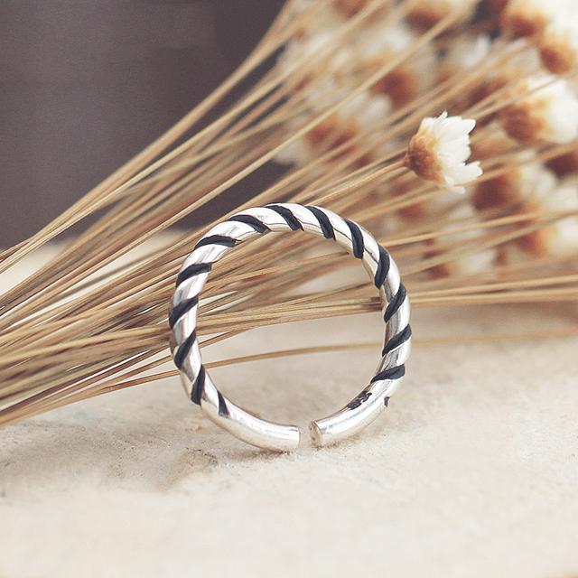 银戒指款式-足银女戒