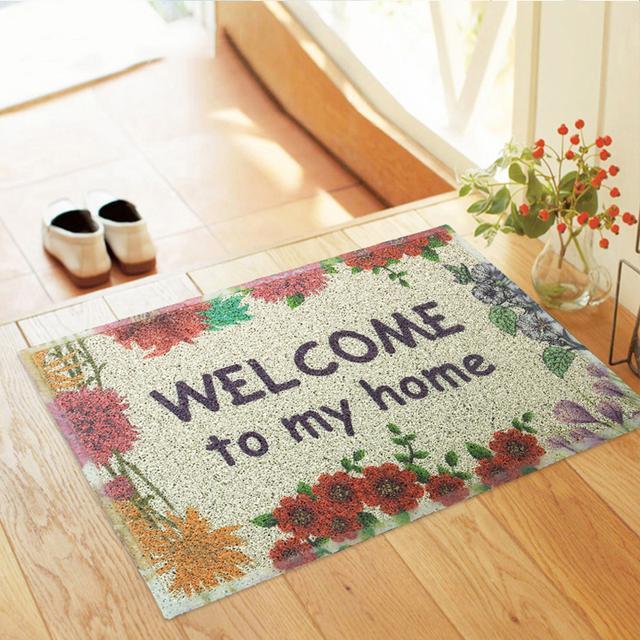 入户门添置一块这样的地垫,聚财又美化空间,一眼就看上第四款
