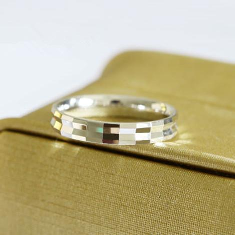 面面闪耀925银戒指