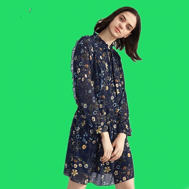 伊芙丽连衣裙,前沿潮流元素,时尚MM上班出街的必备选择