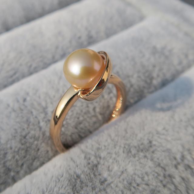 2017新款925银珍珠戒指