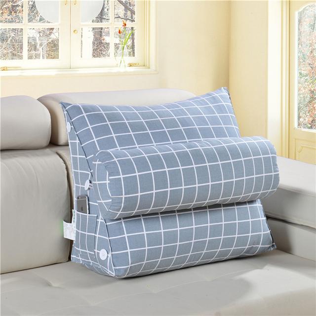 长时间坐着腰疼?不用怕,这样的床头靠枕让你看书玩手机都倍舒适