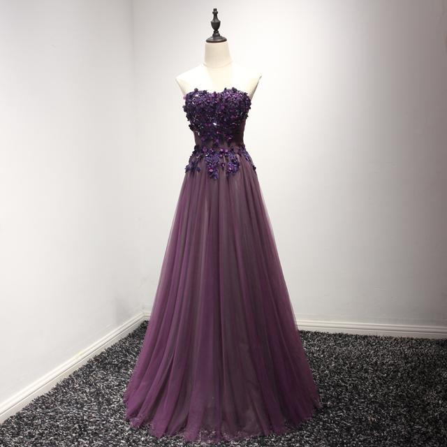 紫色宴会敬酒礼服