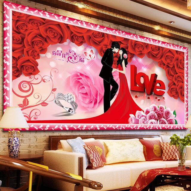 传统的十字绣已落伍,今年流行钻石画,让家里充满温馨与浪漫