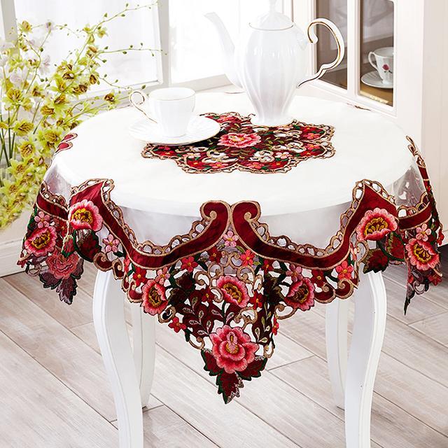 茶几不语,枯燥生活用创意桌布点亮你的小资情调