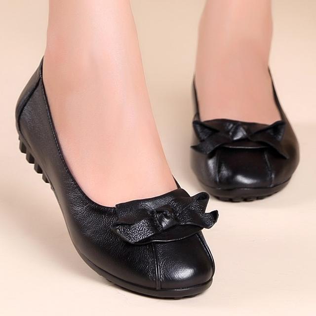 真皮软底舒适平底鞋