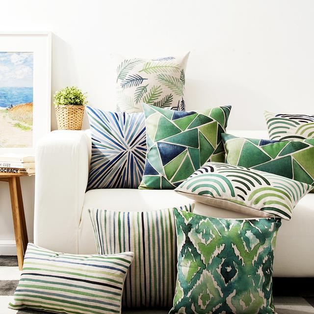 清新多彩的舒适抱枕,让家居格调更上一层楼