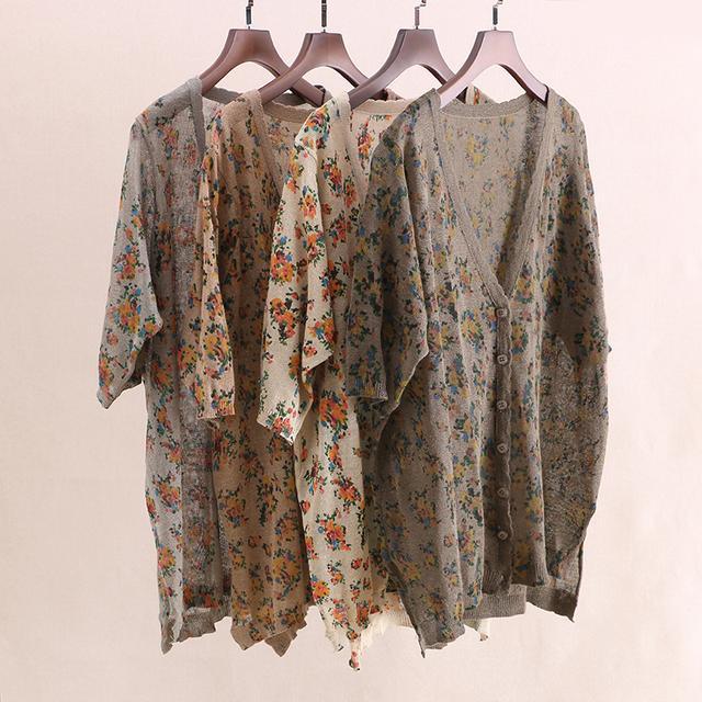 清明时节雨纷纷,T恤外面配件棉麻外套穿,气质大方又显文艺范