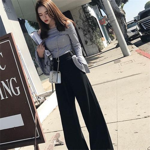 林珊珊韩版新款休闲阔腿裤