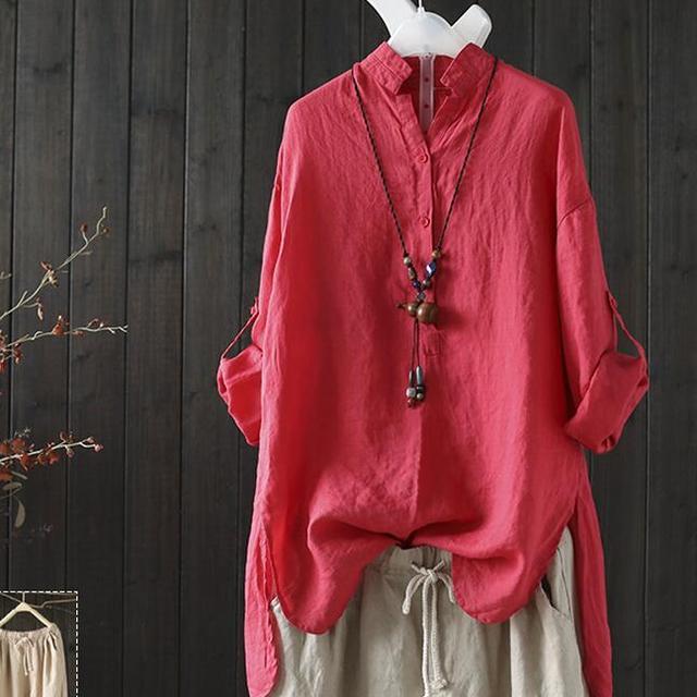 休闲棉麻衬衫