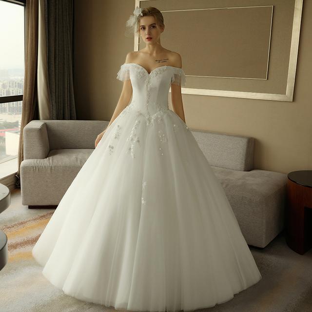 甜心形抹胸性感婚纱