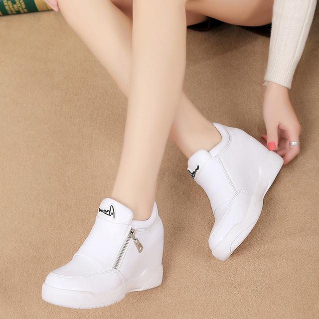 小白鞋内增高休闲鞋