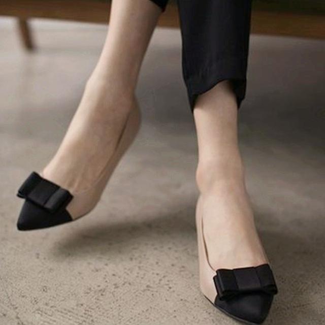 春款低跟单鞋