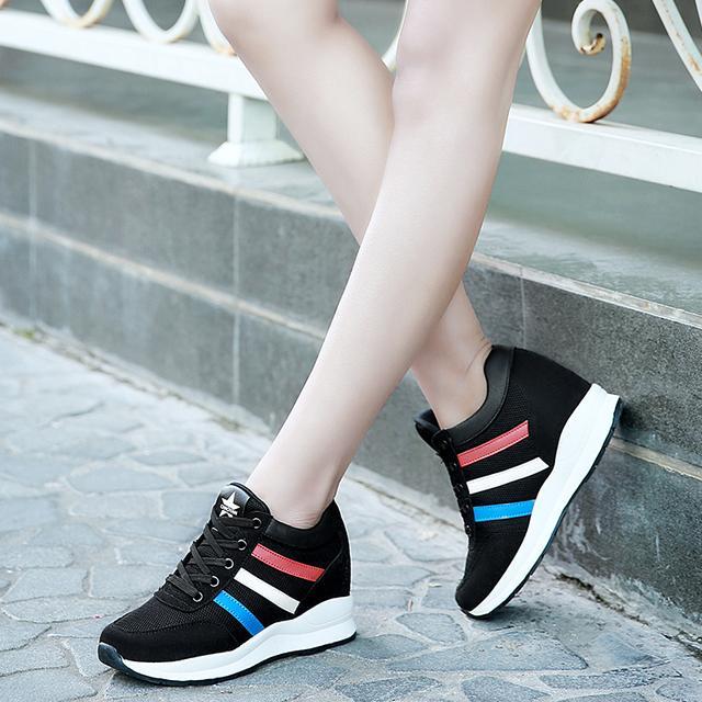 内增高小白鞋运动春季单鞋