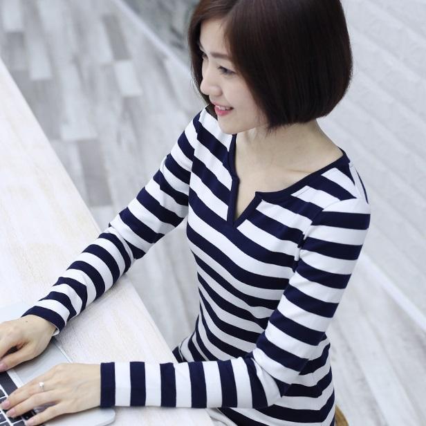 纯棉海魂衫长袖t恤