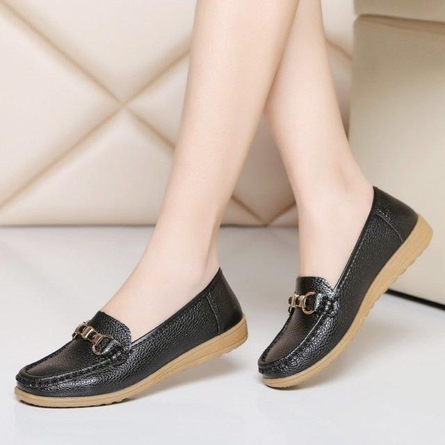 春秋中老年舒适软底女士单鞋
