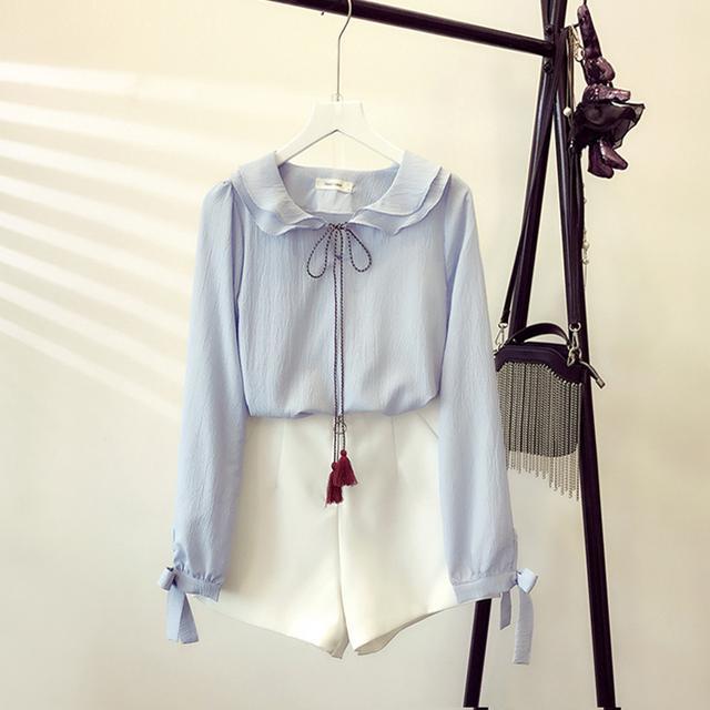小清新雪纺衬衣