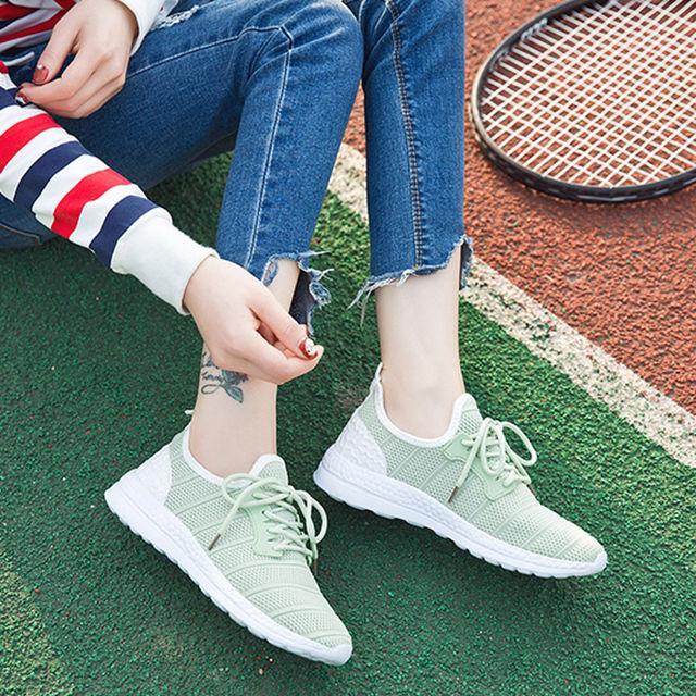 原宿风学生透气网面网鞋