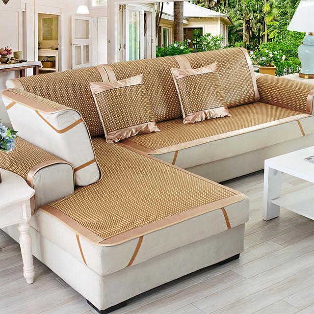 别闹了!夏天布艺沙发垫太闷热压根坐不住,专属夏季的清凉沙发垫