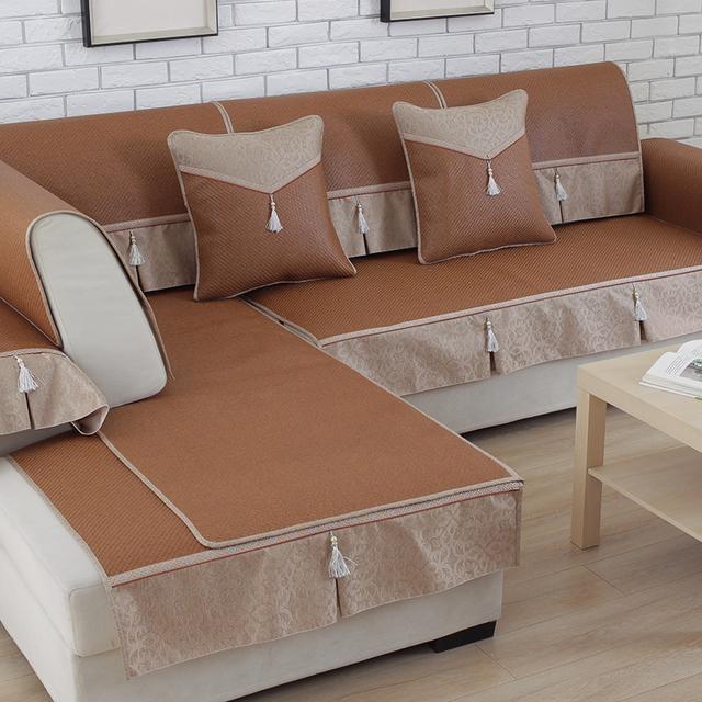 夏季凉爽冰丝沙发套坐垫,清凉舒服还不贵,婆婆直夸大气还好看