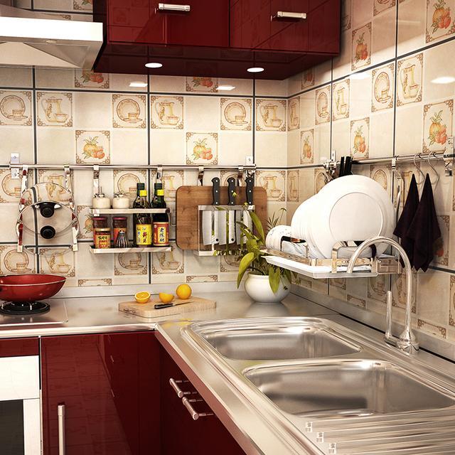 厨房杂乱多瓶罐,神奇收纳让台面够整洁