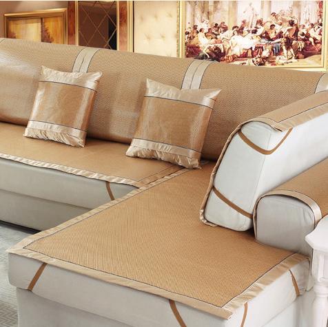 还在傻傻地挑新沙发?100元左右一套的冰丝沙发垫,洋气上档次