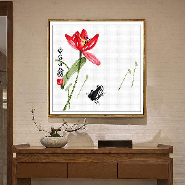 客人来家里做客,都夸我家十字绣有着浓厚的中国风,还很吉利