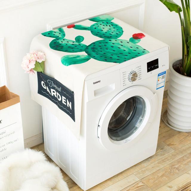 给洗衣机多一的层保护,洗衣机盖布,收纳防尘两不误