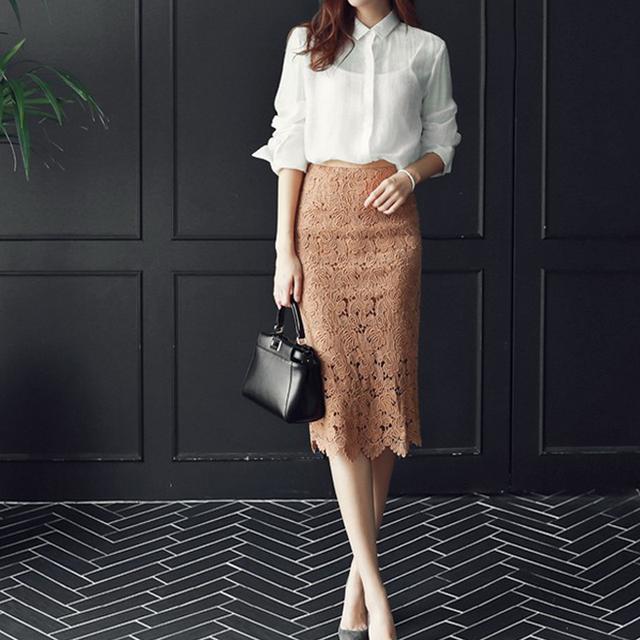 春季蕾丝包臀半身裙
