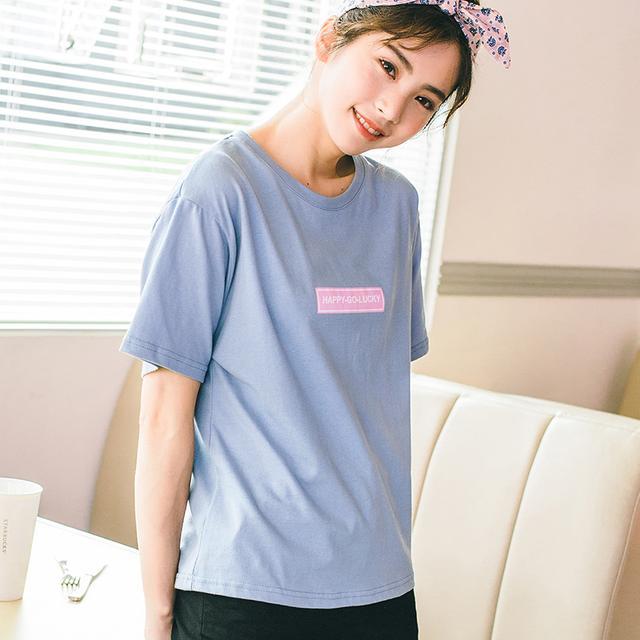 英文纯棉字母短袖t恤