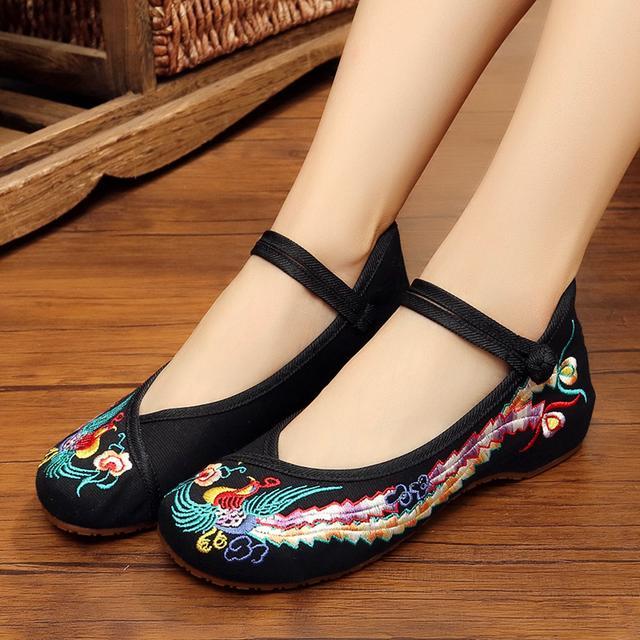 老北京布鞋绣花鞋民族风
