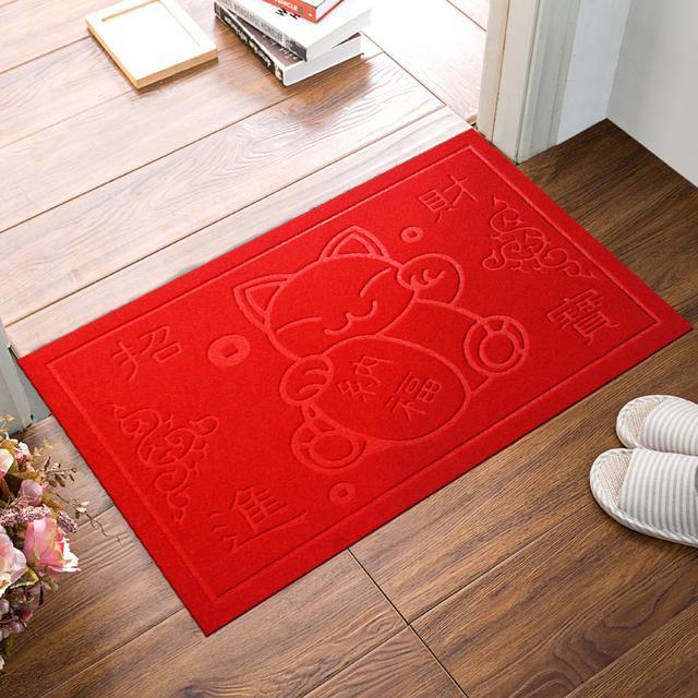 玄关前放上这8款地毯,耐脏招财还实惠,第6款超蹭泥