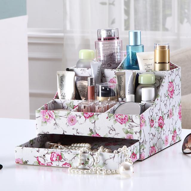 化妆品收纳盒,让你告别脏乱差梳妆台,绽放你的美