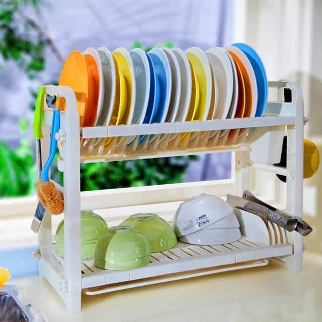 碗筷滴得厨房都是水,老婆买了便宜又实用的沥水架,特实用