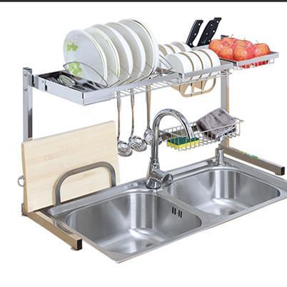 哈哈,太神奇了!买个水槽沥水架回来,厨房瞬间变的宽敞又整洁