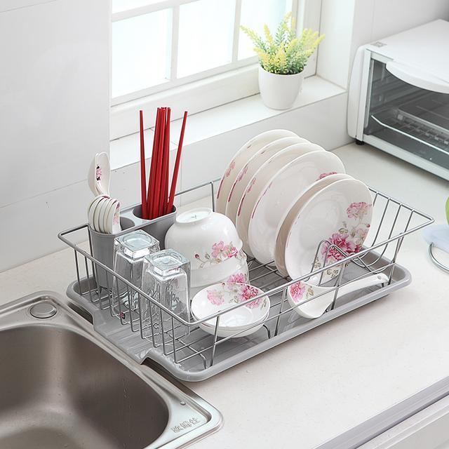 厨房必备的沥水碟碗架,第三款移动式沥水篮子,你家有了它更方便