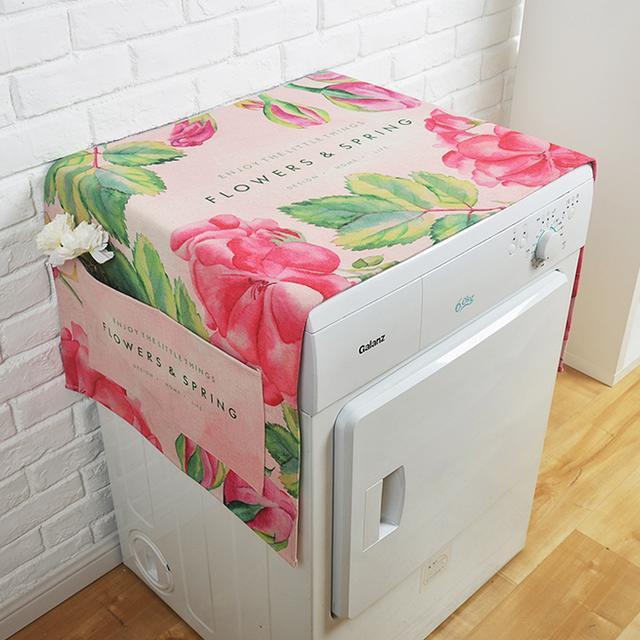 洗衣机披上防尘罩瞬间高大上还高颜值,新房家居装饰神器