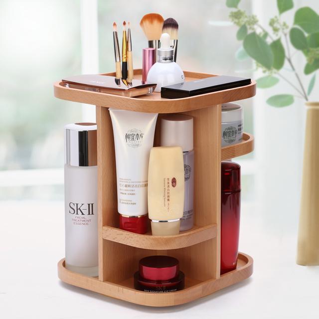瓶瓶罐罐的化妆品太多,各类精致的化妆品收纳盒,还桌面整洁干净 护肤品,化妆品,复古风,桌子,塑料 IT之家  1