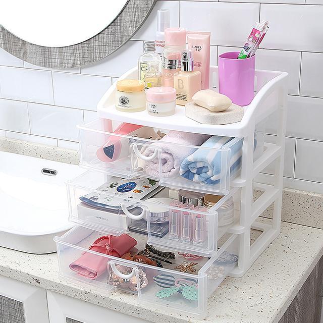 瓶瓶罐罐的化妆品太多,各类精致的化妆品收纳盒,还桌面整洁干净 护肤品,化妆品,复古风,桌子,塑料 IT之家  10