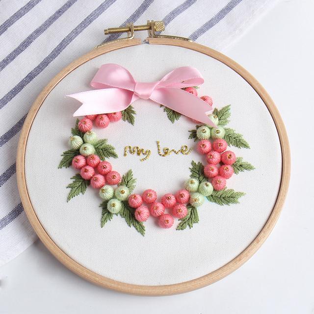 别绣老式十字绣了,现在流行手工DIY刺绣,有创意可做礼物