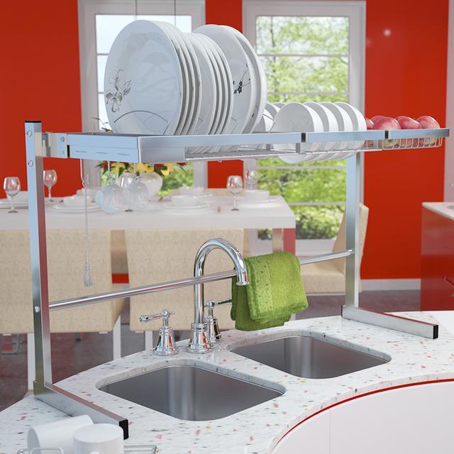 嗮嗮!拍了个水槽沥水架,厨房竟然变得更加干净整洁