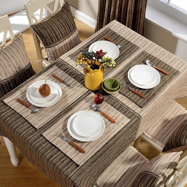 传统的餐桌布已经out了,现在流行8款欧式桌布经济实用还美观