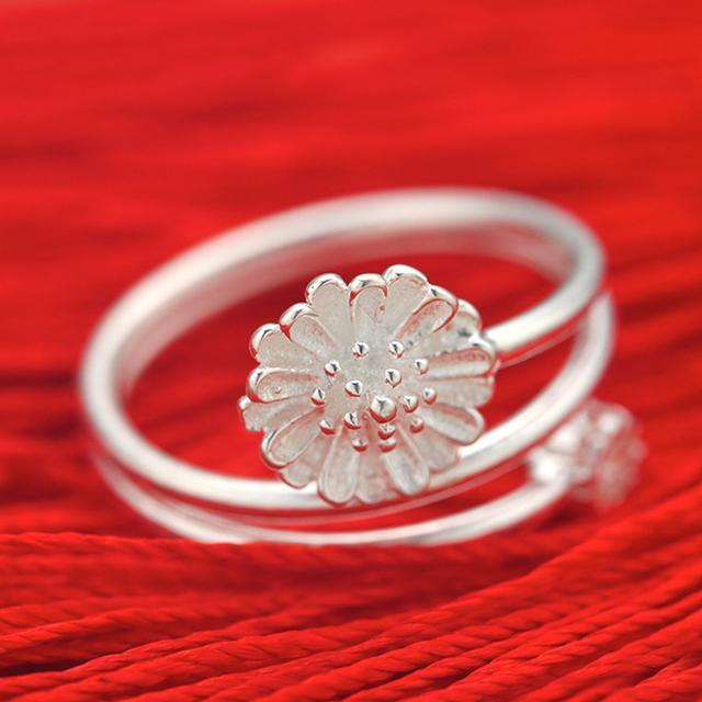 银戒指款式-990银戒指开口