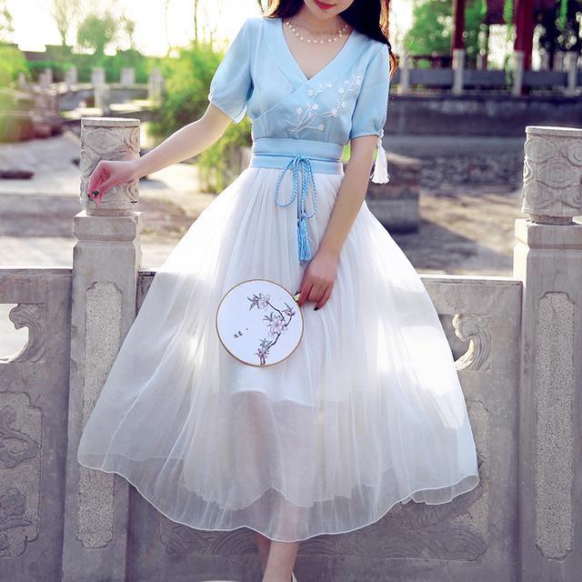 中国风,清新优雅,这才是中国人的连衣裙 5