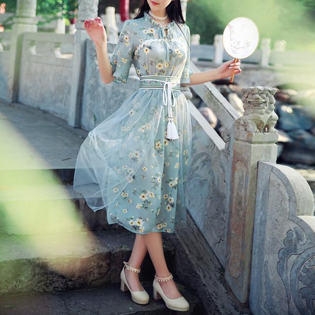 中国风,清新优雅,这才是中国人的连衣裙 8