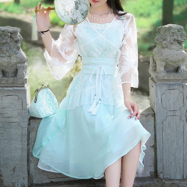中国风,清新优雅,这才是中国人的连衣裙 9