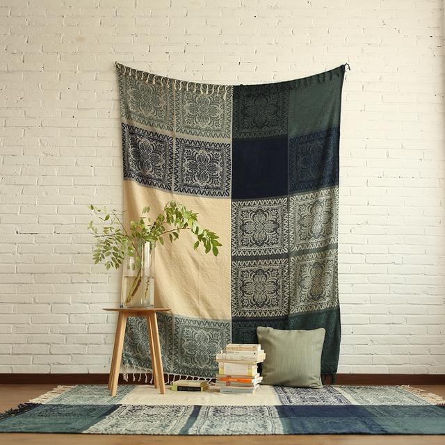 简约舒适的线毯,沙发垫沙发巾,第二款就是杂志封面常用款