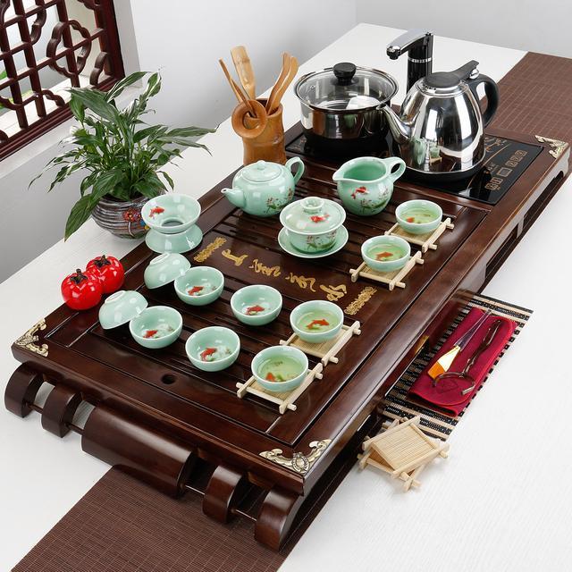 父亲节,送给爱喝茶的爸爸一套嵬峨上的紫砂茶具,摄生保健更长命