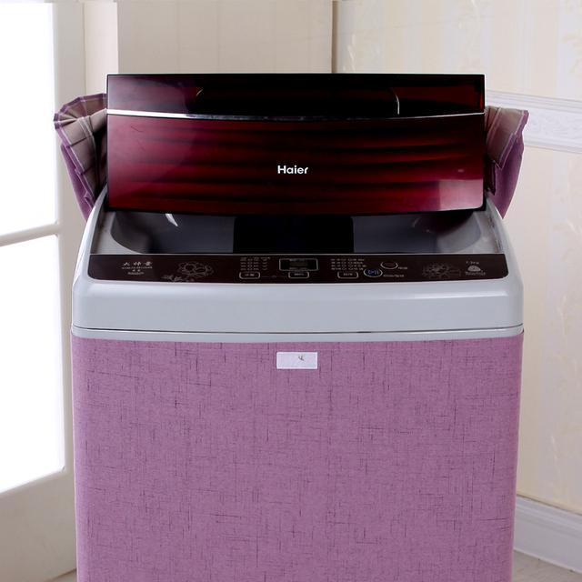多功能的冰箱防尘罩,不但防尘而且还能装饰, 居家小能手哦